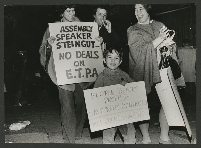 Tenants demonstrate in support of E.T.P.A. (circa 1975).