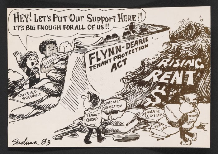 Comic in support of the Flynn-Dearie Tenant Protection Act (undated).