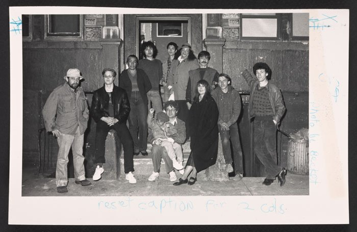 Tenants of 533 5th St on rent strike (1984).