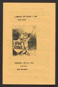 Esther Rand's memorial brochure.